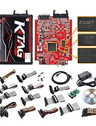 cheap -KTAG 7.020 Online V2.23 Token 4 LED Red PCB V7.020 KTM100 KTAG ECU Programming Tool Master software V2.23 with Unlimited Token