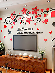 cheap -Decorative Wall Stickers - 3D Wall Stickers Floral / Botanical Living Room / Indoor
