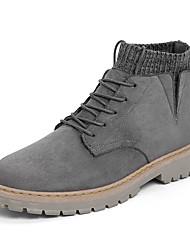 cheap -Men's Combat Boots PU Fall Boots Black / Brown / Gray / Outdoor