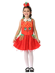 cheap -Princess Cosplay Costume Party Costume Masquerade Kid's Girls' Halloween Halloween Festival / Holiday Spandex Polyester / Polyamide Drak Red Carnival Costumes