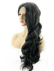 cheap -Human Hair Lace Wig Synthetic Lace Front Wig Matte Deep Wave Jolie Layered Haircut Deep Parting Lace Front Wig Long Very Long Black#1B Synthetic Hair 16-24 inch Women's Sexy Lady Hot Sale For Black