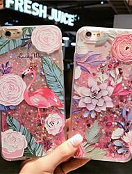 Недорогие -чехол для apple iphone xs max / iphone 8 plus пылезащитный / проточная жидкость задняя крышка мультфильм / цветок силикагель для iphone 7/7 plus / 8/6/6 plus / xr / x / xs