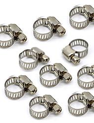 Недорогие -Регулируемый 8 мм - 12 мм диаметр из нержавеющей стали, хомуты, топливопровод, червячные зажимы, нас размер, диаметр 8-12 мм