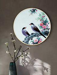 cheap -Framed Art Print Prints - Landscape Floral / Botanical Wood Sketch Wall Art