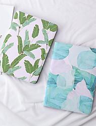 cheap -Case For Apple iPad 2/3 /4 / Air/Air 2/ mini 1 / 2 / 3/ mini 4 /Pro 9.7'/Pro 10.5/Air(2019)/ iPad(2018)/iPad(2017) Dustproof / with Stand / Pattern Full Body Cases Leaf / Tree PU Leather / TPU