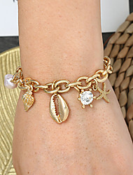 cheap -Women's Vintage Bracelet Earrings / Bracelet Pendant Bracelet Retro Starfish Shell Simple Classic Vintage Ethnic Fashion Alloy Bracelet Jewelry Gold / Silver For Daily School Street Holiday Festival