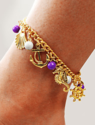 cheap -Ankle Bracelet Women's Body Jewelry For Party Daily Alloy Gold