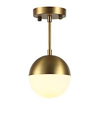 cheap -1-Light MAISHANG® 15 cm Flush Mount Lights Metal Glass Globe Electroplated Modern 110-120V / 220-240V