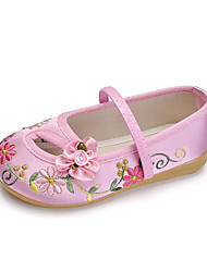 cheap -Girls' Comfort Satin Flats Toddler(9m-4ys) / Little Kids(4-7ys) Flower Red / Blue / Pink Summer / TPR (Thermoplastic Rubber)