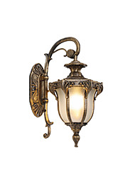 cheap -Outdoor Waterproof Wall Lamp Antique Wall Sconce Lantern Glass Shade Gardern Courtyard Wall Lighting Aluminum Lamps