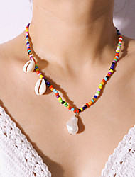 cheap -Women's Pendant Necklace Necklace Trendy Ethnic Fashion Pearl Shell Rainbow 41 cm Necklace Jewelry 1pc For Gift Daily Carnival Holiday Festival