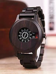 cheap -Men's Dress Watch Japanese Quartz Stylish Wood Casual Watch Wooden Analog Black / Two Years / Two Years