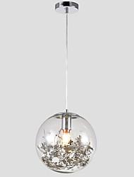 Недорогие -светодиодный круг подвесной светильник / стеклянный потолочный светильник гальванический металл творческий регулируемый 110-120 В / 220 В-240 В / E26 / E27