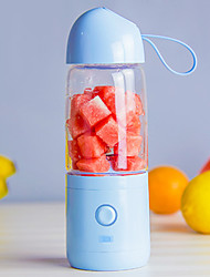 cheap -Fruit Juicer Bottle Portable Smoothie Maker 0.55 L Single Portable Durable for 1 person Plastics Alloy Outdoor Camping / Hiking Outdoor Picnic Light Blue Violet Pink