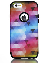 cheap -Phone Case For Apple Back Cover iPhone 7 iPhone 6 Shockproof Lines / Waves Color Gradient Geometric Pattern TPU PC
