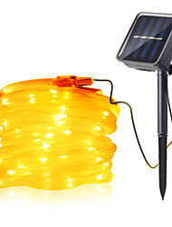 cheap -7m String Lights 50 LEDs 1Set Mounting Bracket 1 set Warm White / RGB / White Waterproof / Solar / Creative Solar Powered