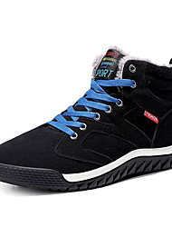 cheap -Men's Suede Shoes Suede Winter Sporty / Casual Boots Walking Shoes Warm Black / Green / Blue / Outdoor