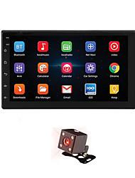 Недорогие -7 '' android 8.1 двойной 2 din 16g четырехъядерный gps автомобильная стерео mp5 плеер fm камера заднего вида