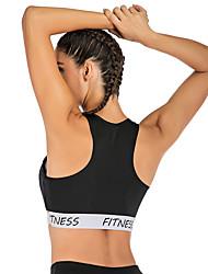 cheap -Women's Sports Bra Top Sports Bra Elastane Zumba Fitness Gym Workout Lightweight Breathable Sweat-wicking Black Fashion / Micro-elastic