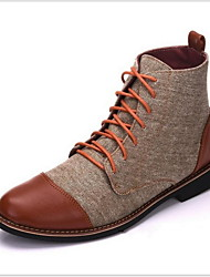 cheap -Men's Combat Boots Cotton Fall & Winter Boots Warm Booties / Ankle Boots Black / Blue / Gray