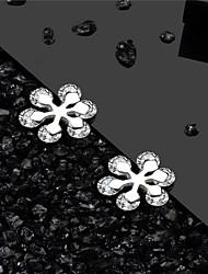 cheap -925 Silver White AAA Cubic Zirconia Earrings Classic Snowflake Simple European Fashion Earrings Jewelry