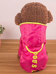 cheap -Dogs Rain Coat Waterproof Dog Clothes Waterproof Light Blue Fuchsia Yellow Costume Baby Small Dog Husky Labrador Alaskan Malamute Waterproof Material Polyster Solid Colored Slogan Waterproof Windproof