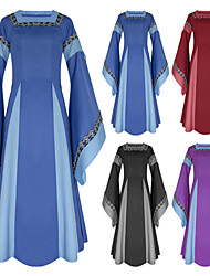 cheap -Cosplay Medieval Renaissance Dress Party Costume Costume Women's Costume Black / Purple / Red Vintage Cosplay Long Sleeve