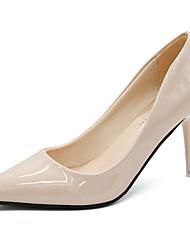 cheap -Women's Heels Stiletto Heel Pointed Toe PU Minimalism Summer Black / White / Red / Daily / 3-4