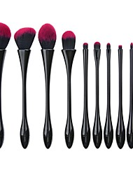 cheap -Professional Makeup Brushes 10pcs Soft New Design Comfy Aluminium Alloy 7005 for Makeup Brush