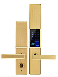 cheap -Slide Fingerprint Password Lock Home Security Door Wooden Door Home Smart Lock Temporary Key App