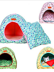 cheap -Dogs Cats Pets Bed Cuddle Cave Bed Cushion & Pillows Fabric Cartoon Yellow Blue