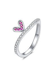 cheap -Comic Heart Finger Rings for Women 2 Color Authentic Sterling Silver 925 Ring Band Size 6 7 8  Fashion Jewelry
