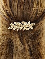 Недорогие -Жен. Украшения для волос Назначение Школа фестиваль Цветы и растения Позолота Золотой 1