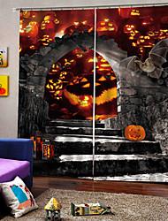 abordables -approvisionnement transfrontalier uv numérique impression rideau halloween thème pour la fête carnaval rideau 100% polyester rideau de blackout