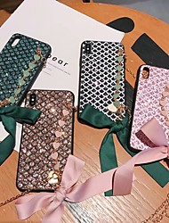 cheap -Case For Apple iPhone XS / iPhone XR / iPhone XS/x/6splus/7 8plus Max Shockproof / Rhinestone / Armband Back Cover Heart Acrylic