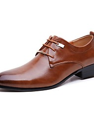 cheap -Men's Dress Shoes Derby Shoes Fall Business / Classic / British Daily Party & Evening Office & Career Oxfords PU Non-slipping Wear Proof Black / Brown Gradient