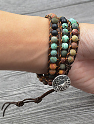 abordables -Bracelet Multi Tour Loom Bracelet Large bracelet Homme Femme Tressé Arc-en-ciel Luxe Bohème Bracelet Bijoux Argent pour Mariage Quotidien Carnaval Vacances Promettre