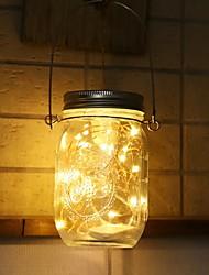 cheap -Solar Mason Can Light Lantern LED String Fairy Star Firefly Jar ins decor Light Home Patio Garden Wedding Christmas Table Decor