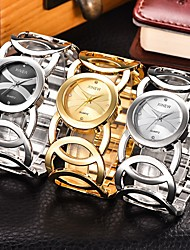 cheap -Women's Ladies Luxury Watches Bracelet Watch Gold Watch Quartz Stainless Steel Silver / Gold Casual Watch Analog Bangle Fashion Elegant - Gold Black Silver One Year Battery Life / SSUO 377