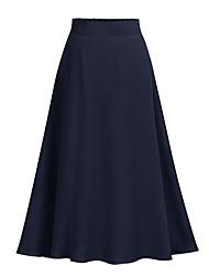 abordables -Femme Bohème Sophistiqué Balançoire Jupes - Couleur Pleine Tulle Rose Claire Bleu Marine Gris Clair Taille unique / Mince