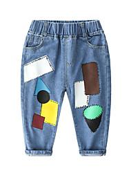 cheap -Kids Boys' Basic Punk & Gothic Patchwork Patchwork Jeans Blue