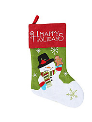 cheap -Stockings / Christmas / Christmas Ornaments Holiday / Family Cloth Cartoon / Party / Novelty Christmas Decoration
