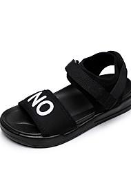 cheap -Girls' Comfort Canvas Sandals Little Kids(4-7ys) Black / Red Fall