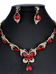 cheap -Women's Blue Red White Bridal Jewelry Sets Link / Chain Butterfly Luxury Dangling Vintage Elegant Earrings Jewelry White / Red / Dark Blue For Christmas Wedding Party Engagement Holiday 1 set