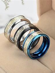 cheap -Men's Women's Band Ring Ring Tail Ring 1pc Black Silver Blue Titanium Steel Circular Vintage Basic Fashion Gift Jewelry