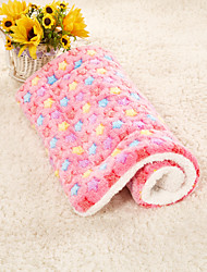 cheap -Dogs Rabbits Cats Mattress Pad Bed Beds Bed Blankets Mats & Pads Fabric Plush Fabric Plush Patchwork Yellow Blue Pink