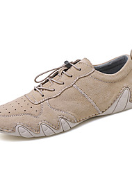 cheap -Men's Leather Shoes Suede / Cowhide Spring & Summer Business / Casual Athletic Shoes Walking Shoes Breathable Black / Gray / Khaki / Party & Evening / Party & Evening / Suede Shoes / Non-slipping