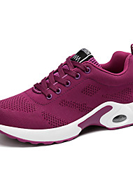 cheap -Women's Athletic Shoes Flat Heel Round Toe Tissage Volant Casual Running Shoes Spring & Summer Black / White / Purple