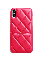 cheap -Case For Apple iPhone XS / iPhone XR / iPhone XS Max Card Holder / Ultra-thin Back Cover Solid Colored PU Leather / TPU