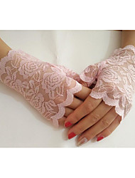 cheap -Lace Wrist Length Glove Gloves With Solid